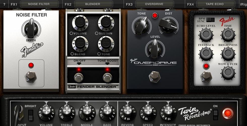 AmpliTube Fender para aparelhos iOS é actualizada