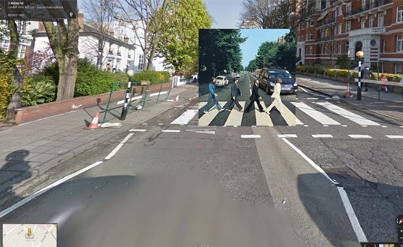Capas de álbuns no Google Street View