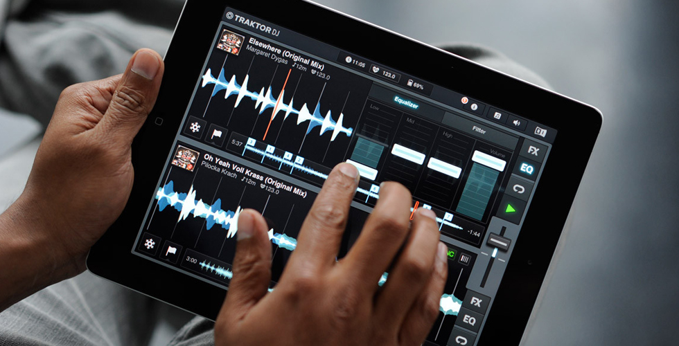 Nova versão do Traktor Dj para iPad e iPhone
