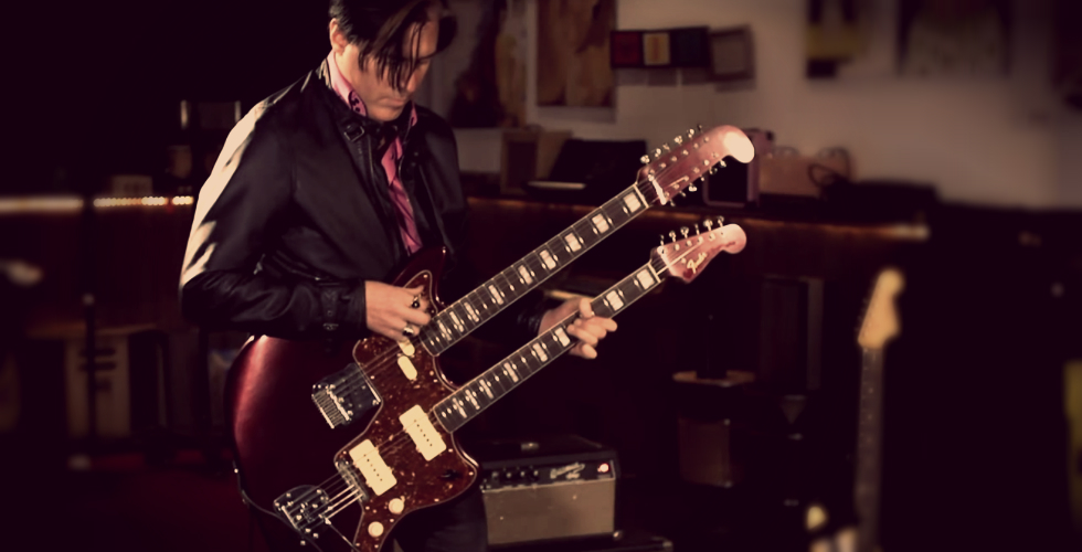 Troy Van Leeuwen, a Jazzmaster Double-Neck