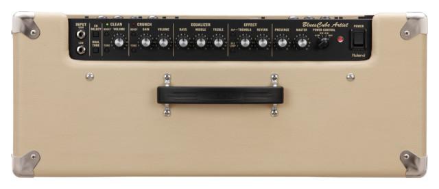 Composição do painel Frontal do Blues Cube e vista traseira do amp (em baixo).