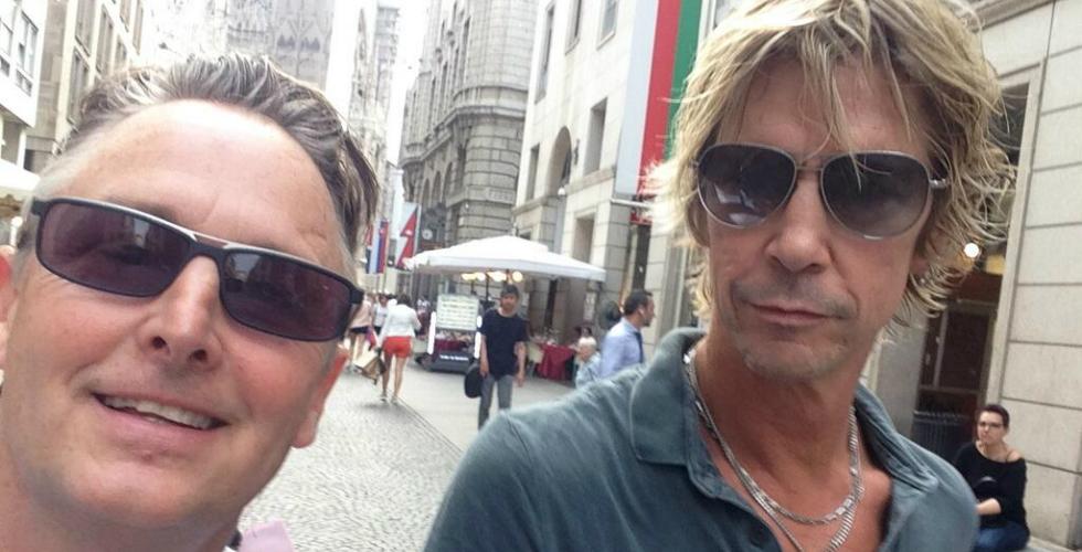 Duff McKagan com Mike McCready