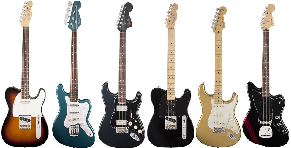 Fender com novas guitarras e baixo