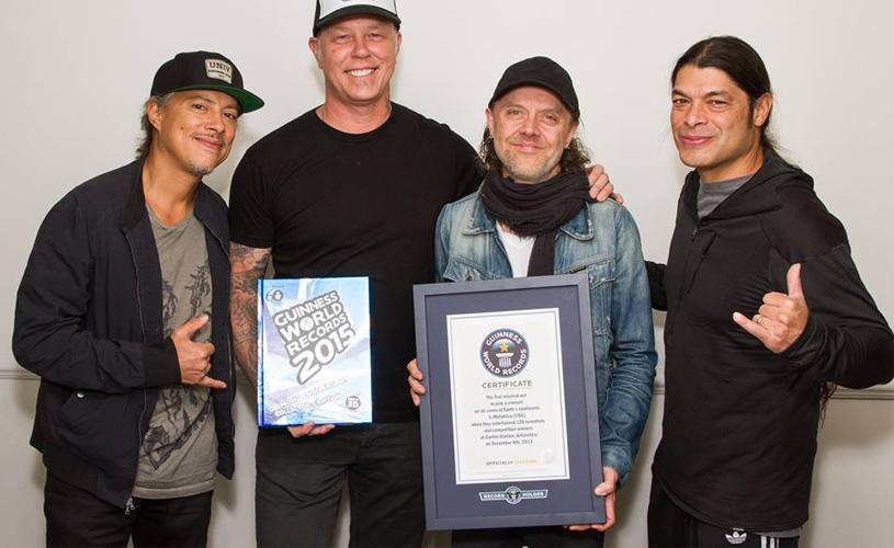 Metallica entram para o livro do Guinness