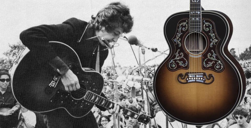 As deslumbrantes Gibson SJ-200 de Dylan