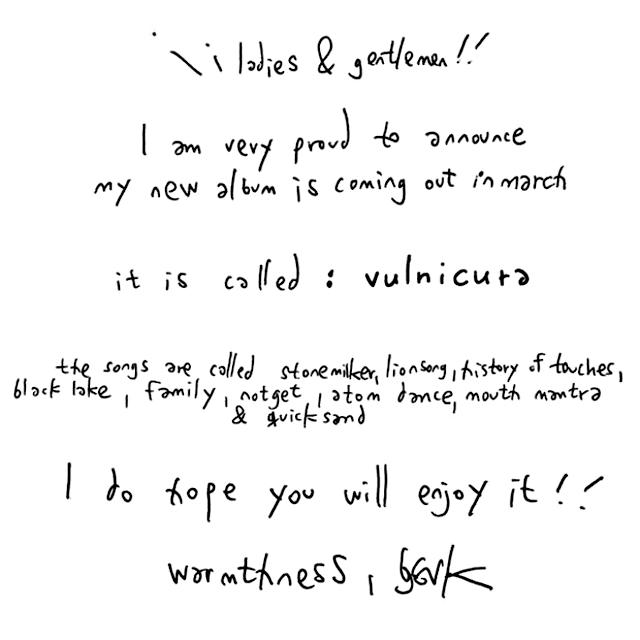 Esta foi a nota que Björk publicou nos seus espaços oficiais.