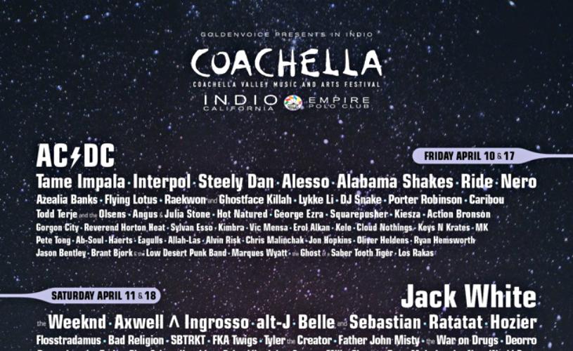 Coachella 2015 apresenta Cartaz