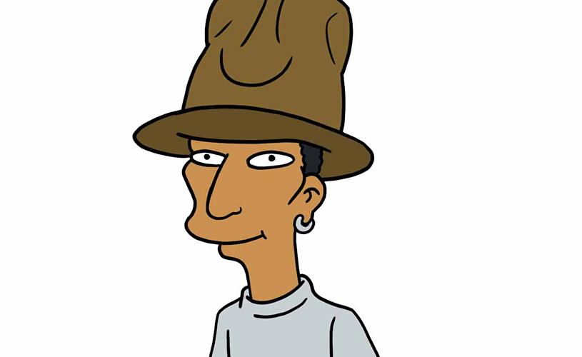 Pharrell Williams é o próximo a virar um 'Simpson'