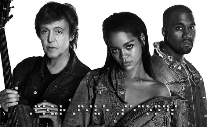 Kanye West junta Rihanna a Paul McCartney