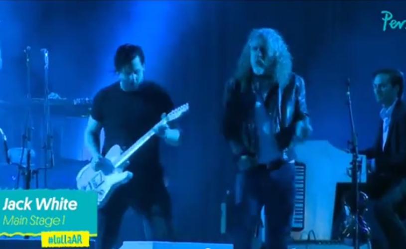 Jack White e Robert Plant juntos em palco