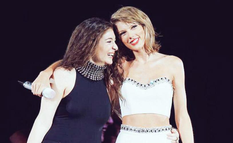 Taylor Swift e Lorde deslumbram em conjunto