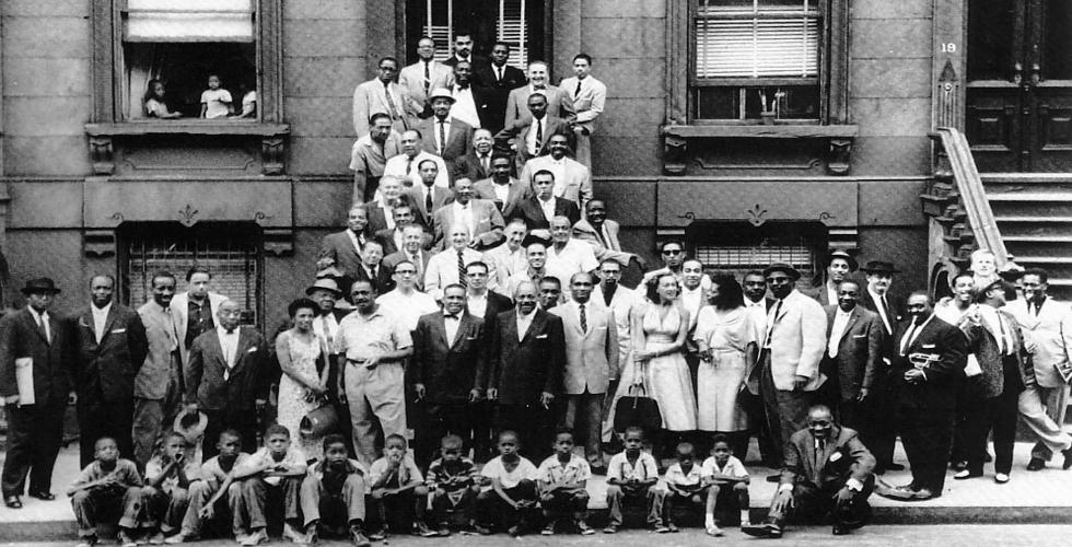 O Jazz fotografado no Harlem