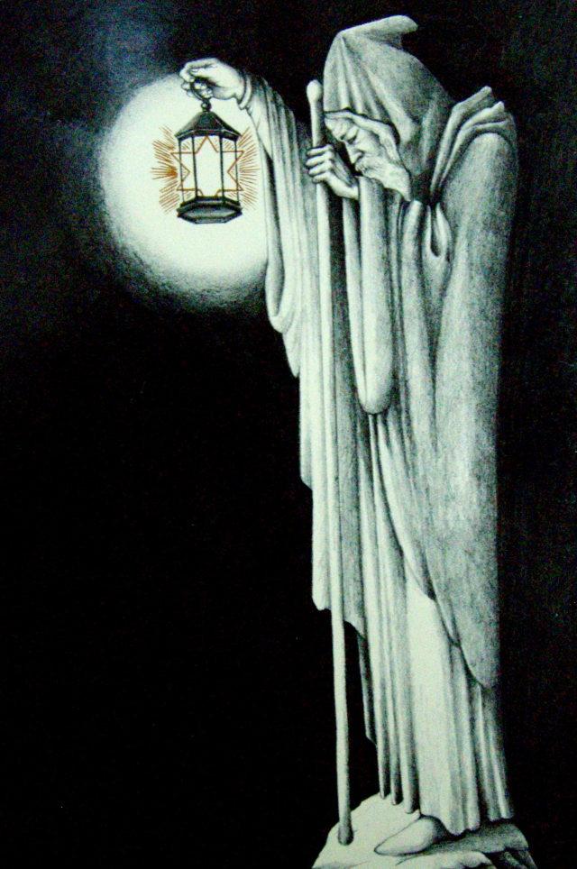O Eremita, no interior da capa, simboliza o isolamento, o corte de laços com a sociedade (uma metáfora da relação da banda com a crítica da época?), para procurar o conhecimento.