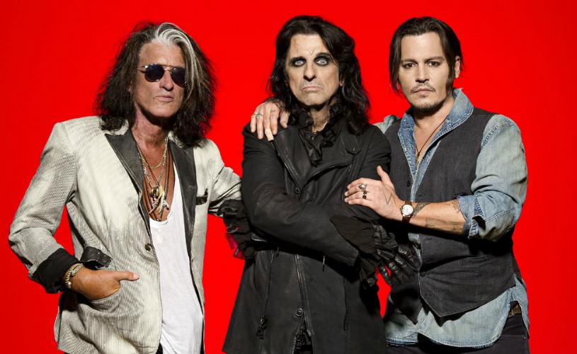 Alice Cooper, Joe Perry e Johnny Depp no Rock In Rio