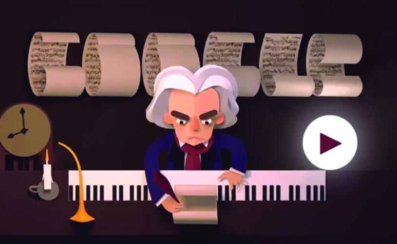 Google celebra o 245º aniversário de Beethoven