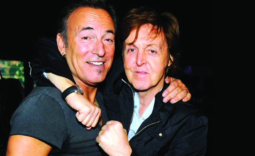 Prenda anticipada: Paul McCartney e Bruce Springsteen juntos em palco