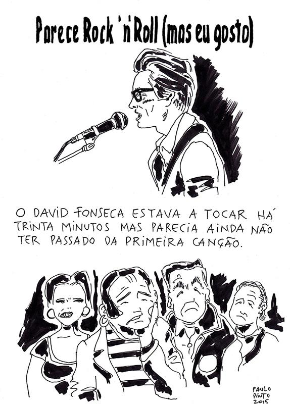 David Fonseca e Márcia em planos paralelos
