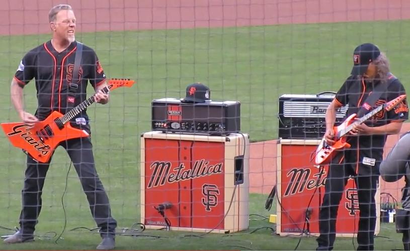 James Hetfield canta os parabéns a Willie Mays
