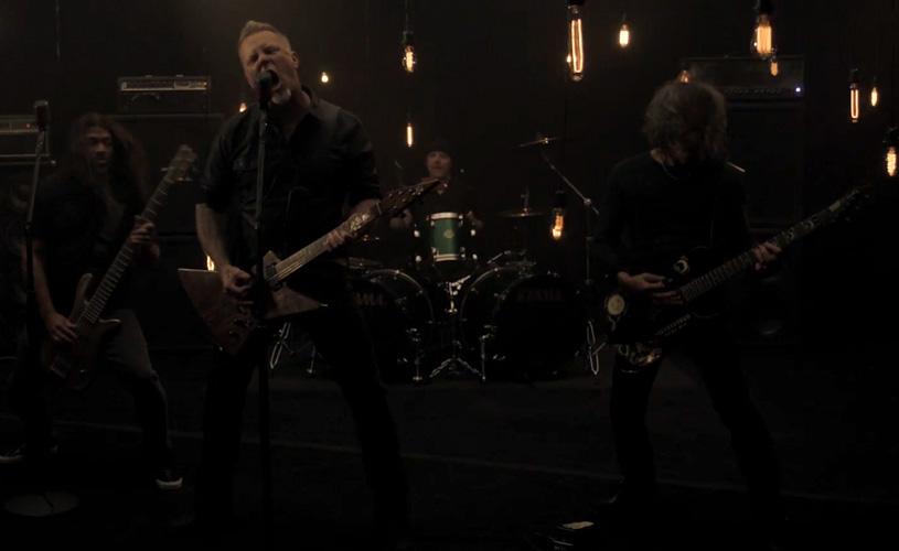 Assiste a um ensaio dos Metallica ao vivo
