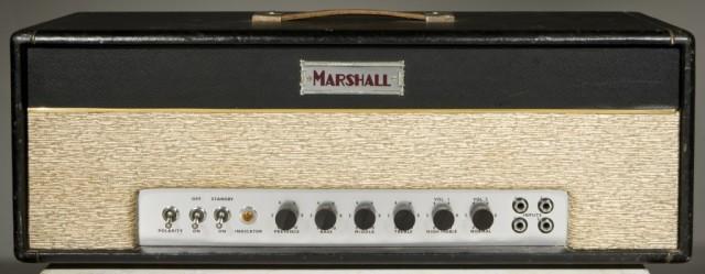 O primeiro amplificador da Marshall, o modelo JTM 45, de 1962.