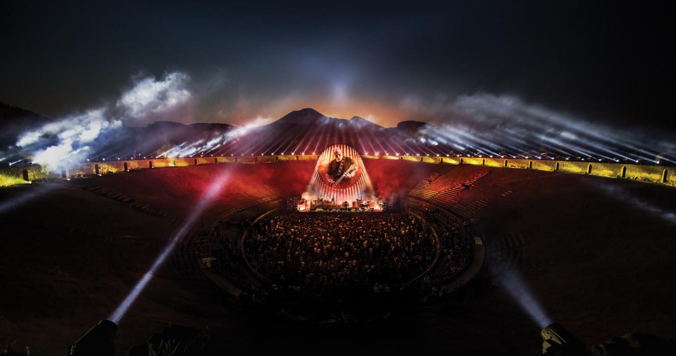 "Vê ""David Gilmour Live at Pompeii"" no Youtube"