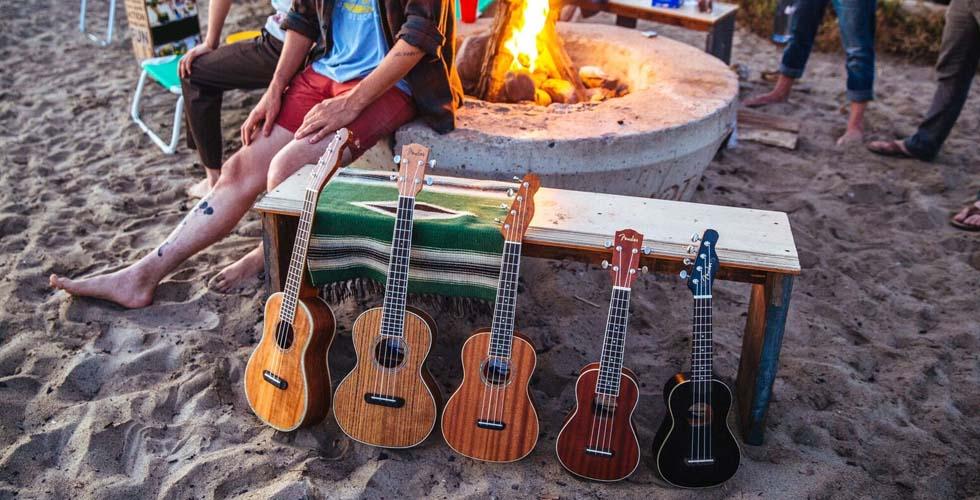 Fender lança nova colecção de ukuleles em homenagem ao sul da Califórnia
