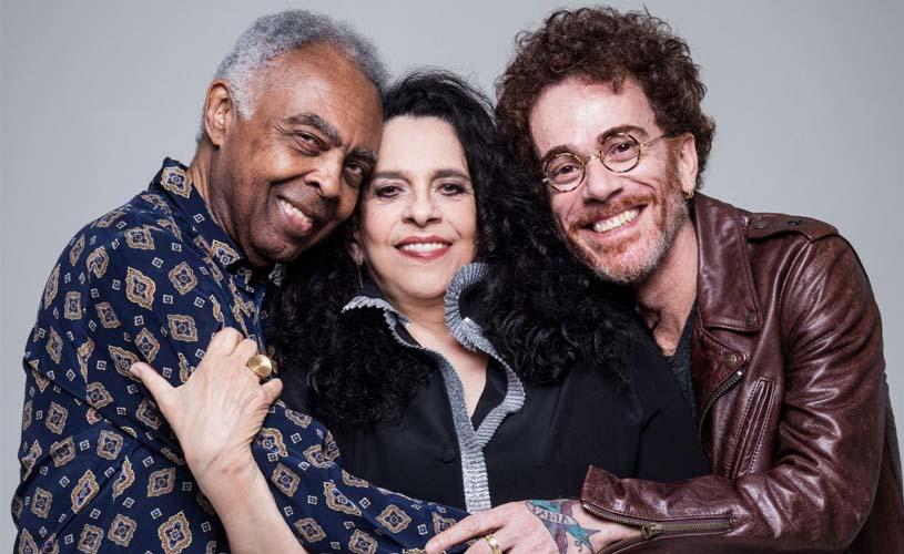 Gilberto Gil, Nando Reis e Gal Costa reunidos em Portugal