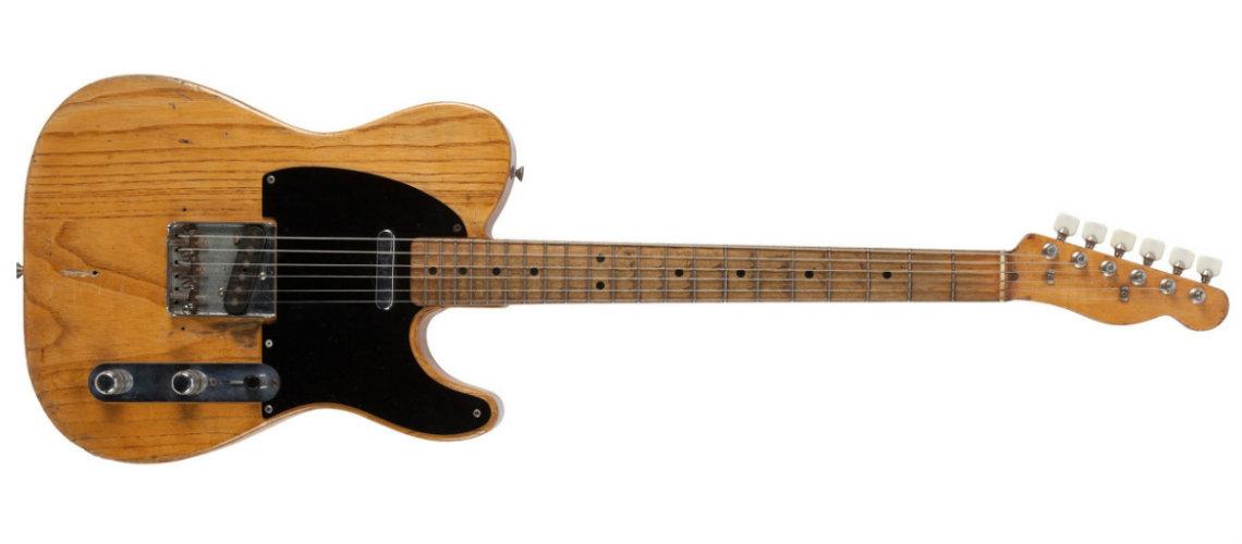 Primeira Guitarra de SRV em Leilão