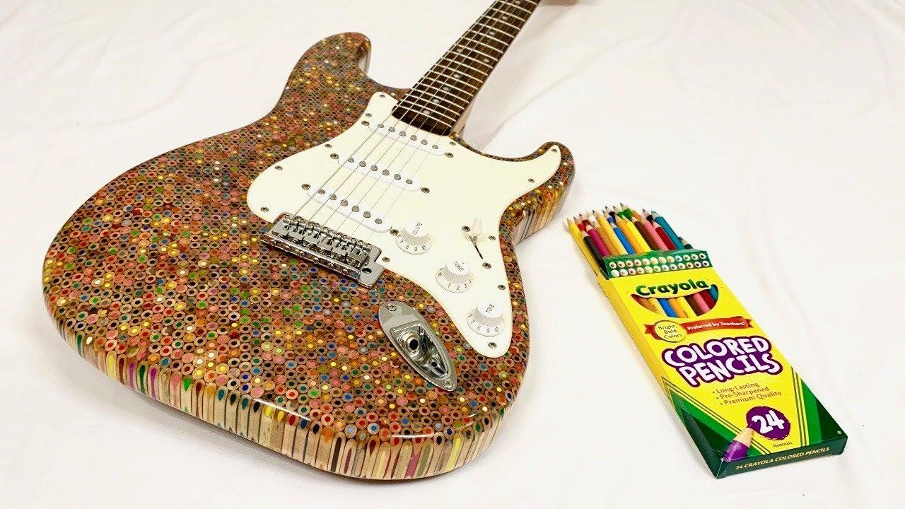 Aprende a construir uma guitarra com lápis de cor