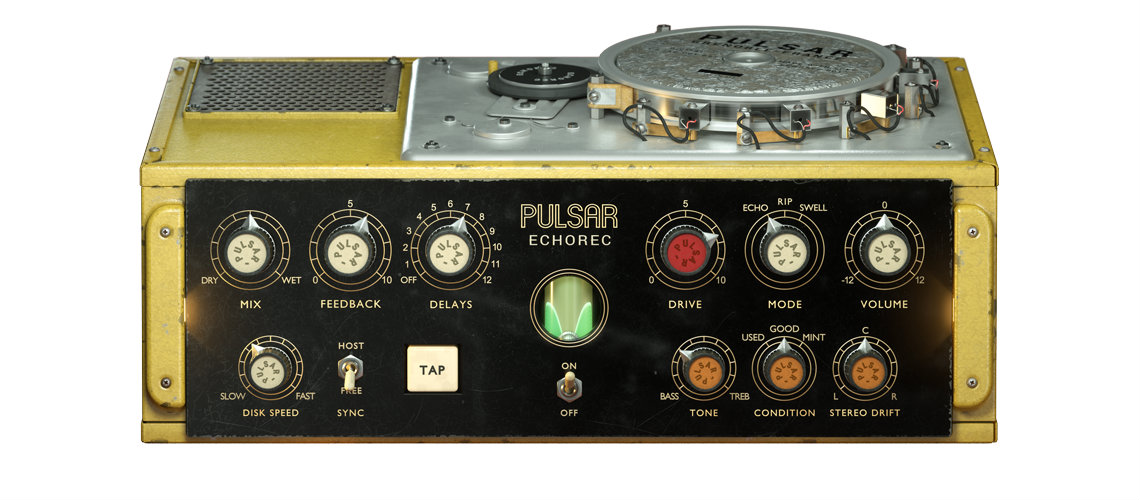 Pulsar Emula Lendário Delay de Disco dos Pink Floyd