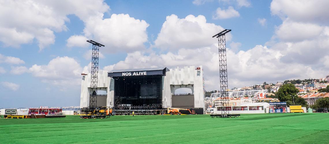 NOS Alive'19: Últimos preparativos e visita ao recinto