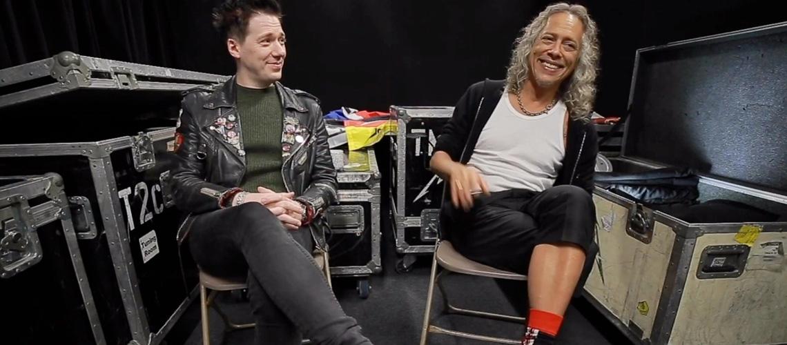 Kirk Hammet (Metallica) e Tobias Forge (Ghost) conversam sobre a WorldWired Stadium Tour 2019