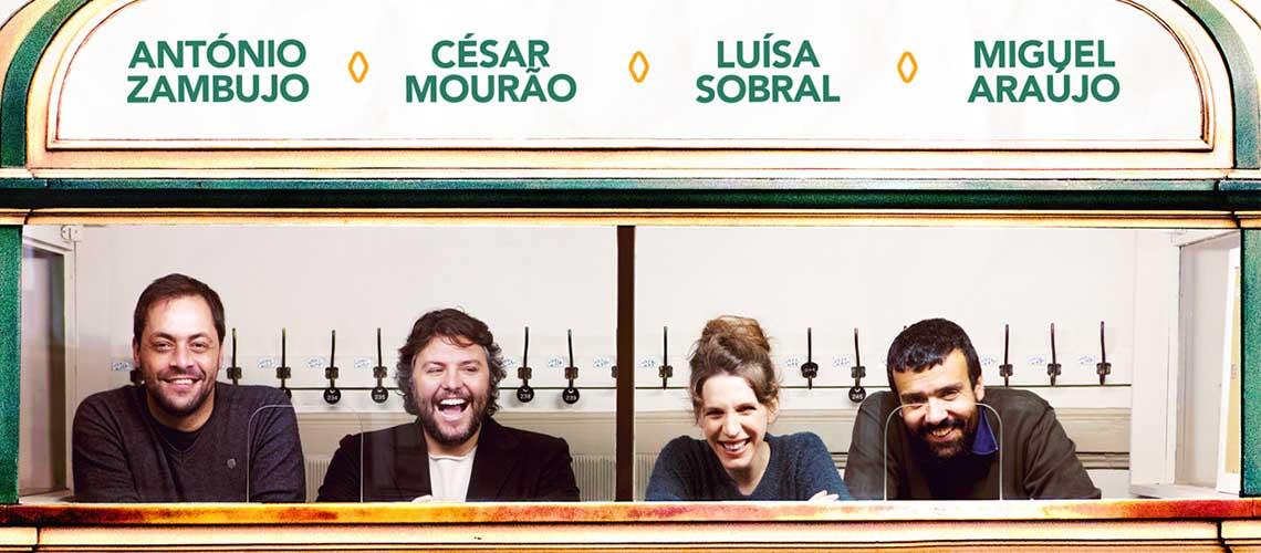 Datas extra para o Desconcerto nos Coliseus com António Zambujo, César Mourão, Luísa Sobral e Miguel Araújo