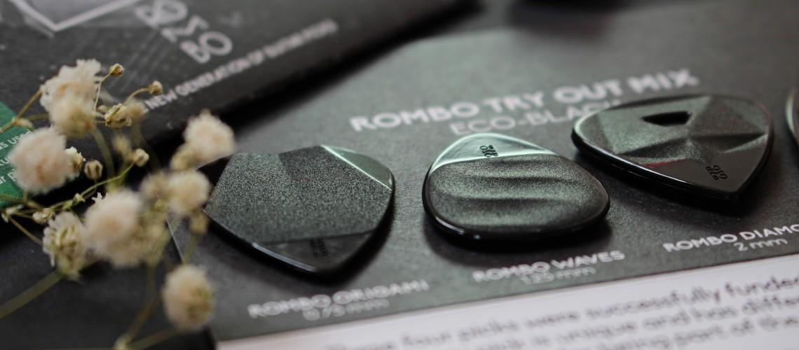Rombo Eco-Black, Palhetas 100% Recicladas