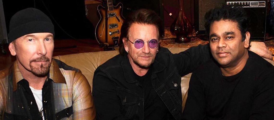 U2 Partilharam o Palco com A.R. Rahman em Mumbai