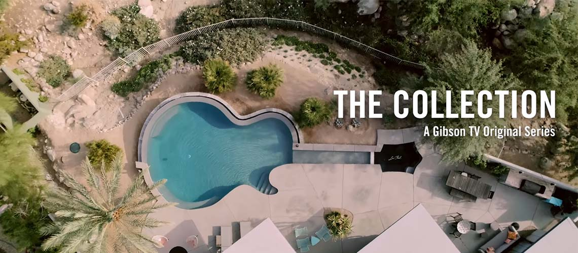 "A piscina em formato de Les Paul de Brian Ray é a estrela do novo episódio de ""The Collection"""
