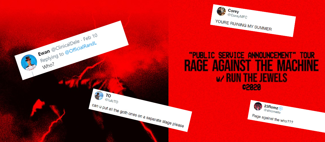 RATM headliners do Reading & Leeds: As reacções da Geração Z na net são hilariantes