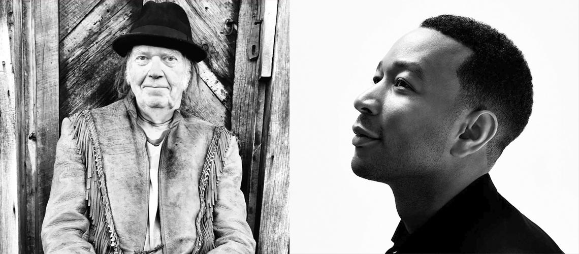 Quarentena Corona: John Legend e Neil Young dão concertos em casa