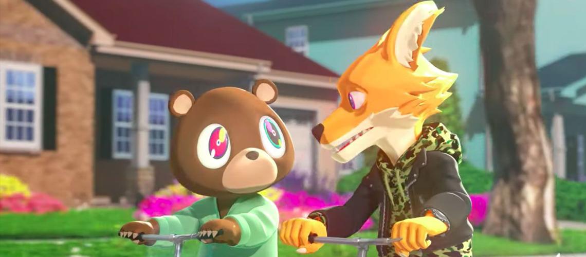 "Kanye West e Kid Cudi transformam ""Kids See Ghosts"" em série animada"