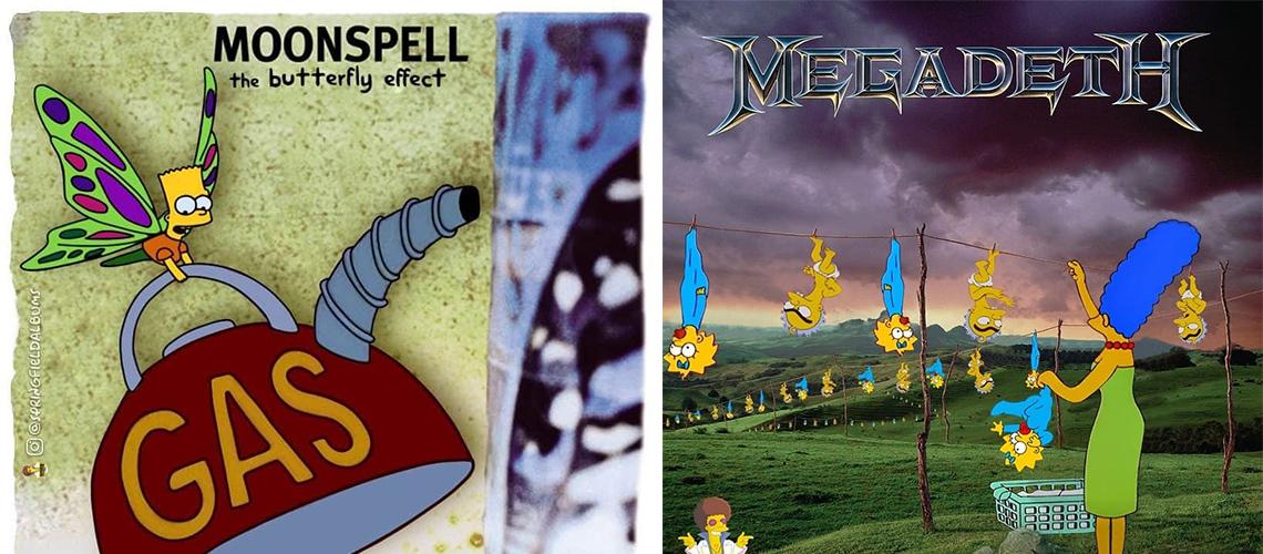 The Simpsons: Fã recria capas de álbuns clássicos com personagens de Springfield
