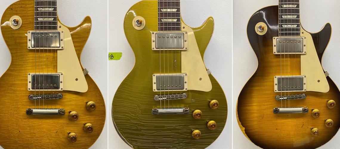 Gibson Custom Shop Revela Modelos Tratados no Murphy Lab