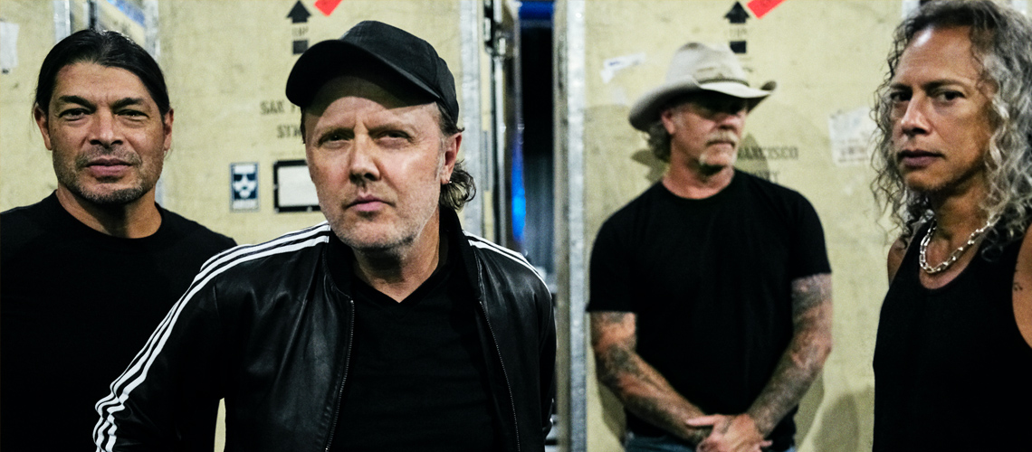 Metallica lideram top nacional, pela segunda semana consecutiva