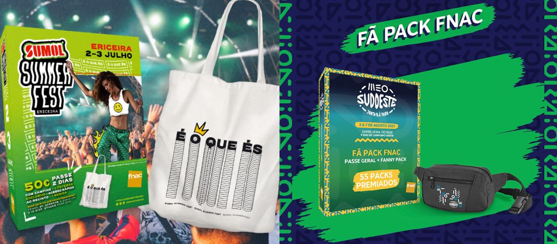 O Sumol Summer Fest e MEO Sudoeste vão lançar os habituais Fã Pack de Natal
