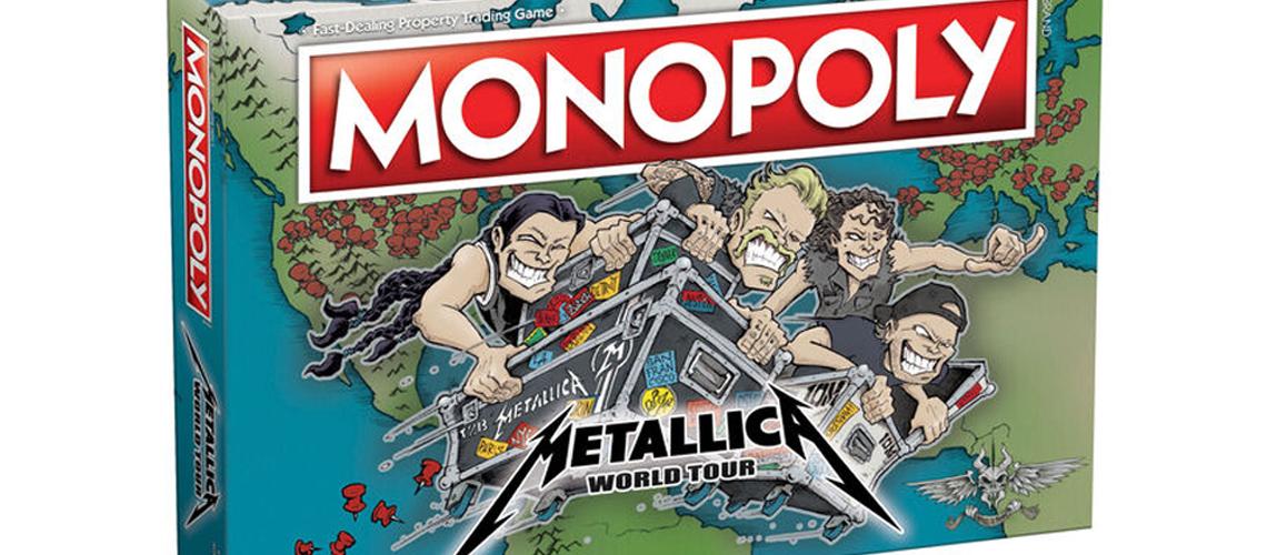 """O Monopólio dos Metallica está de regresso com nova edição """"World Tour"""""""