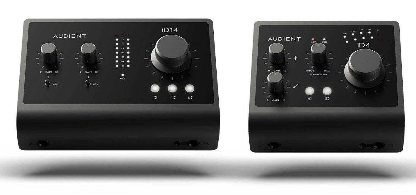 Audient, Duas Novas Interfaces iD e Um Pack De Gravação EVO