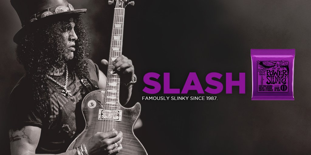 Ernie Ball Slinky com Assinatura de Slash