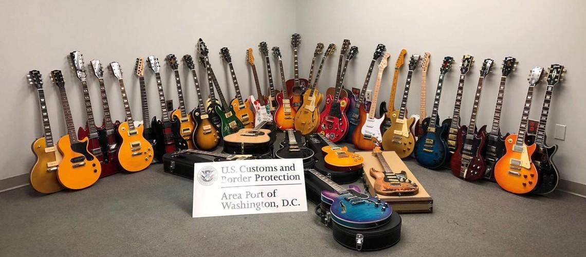 Serviços Alfandegários de Washington Apreenderam 36 Guitarras Falsificadas