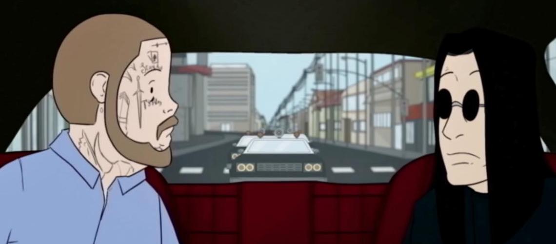 Ozzy Osbourne E Post Malone Fogem à Polícia Em Vídeo Animado