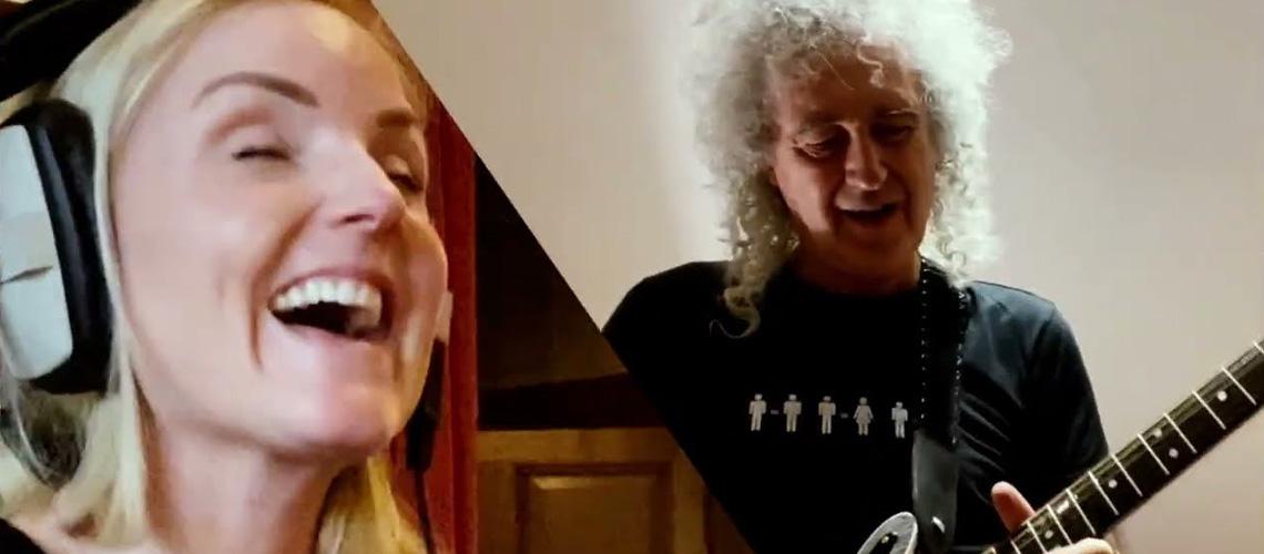 """Brian May & Kerry Ellis partilham tema antigo que vira novo: """"Panic Attack 2021"""""""