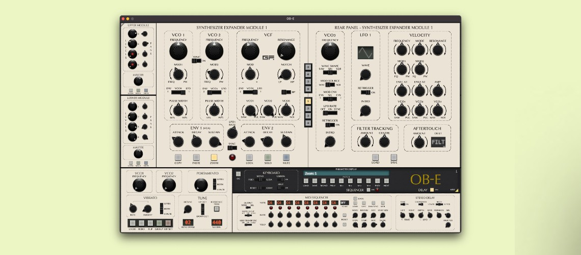 OB-E, Plugin do Sintetizador Oberheim